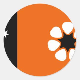 northern-territory-Flag Round Sticker