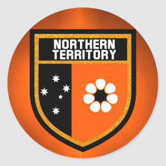 Northern Territory  Flag Round Sticker