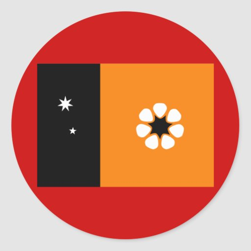 Northern Territory Flag Round Sticker