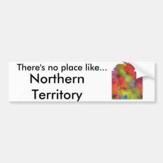 NORTHERN TERRITORY STATE MAP - Bumper Sticker