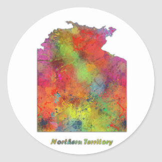 NORTHERN TERRITORY STATE MAP - Round Stickers