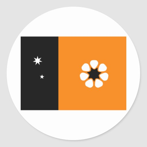 Northern Territory Round Stickers