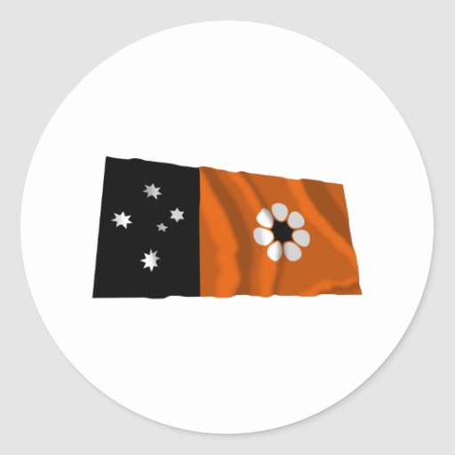 Northern Territory Waving Flag Round Sticker