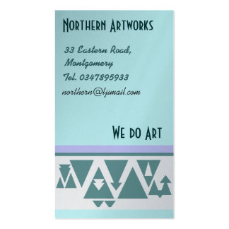 Northern Triangles Profile Card Pack Of Standard Business Cards