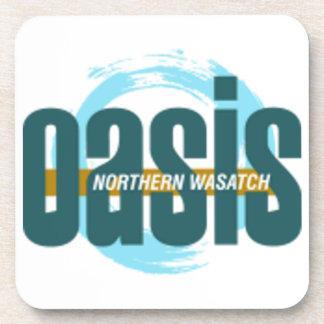 Northern Wasatch Oasis Logo Coaster