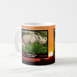 Northern White Rhino is an endangered species - Coffee Mug