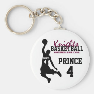 Northridge Basketball Personalized Keychain