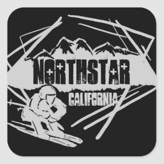 Northstar California black ski logo stickers