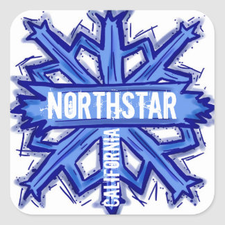 Northstar California snowflake artistic stickers