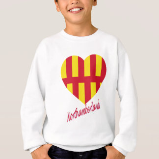Northumberland Flag Heart with Name Sweatshirt