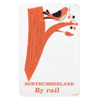 Northumberland UK Rail vintage poster Magnet