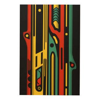 NORTHWEST AR DECO by Slipperywindow Wood Print