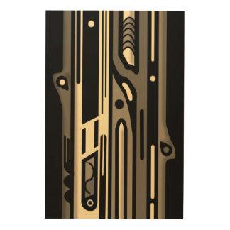 NORTHWEST AR DECO MONO by Slipperywindow Wood Canvas