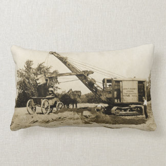 Northwest Construction Crane Operator Early Image Lumbar Pillow