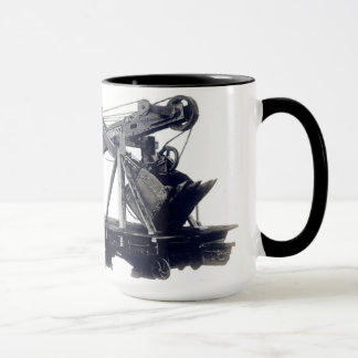 Northwest Crane Construction Shovel on Train Car Mug