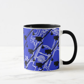 Northwest Crane OPERATING ENGINEER art Crane Op Mug