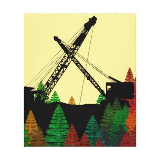 Northwest Crane operator  OPERATING ENGINEER art Canvas Print