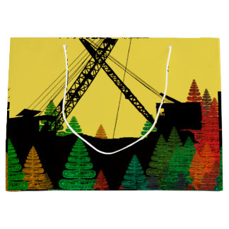 Northwest Crane operator  OPERATING ENGINEER art Large Gift Bag