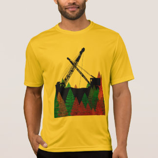 Northwest Crawler Crane n Track Fantasy Art T-Shirt