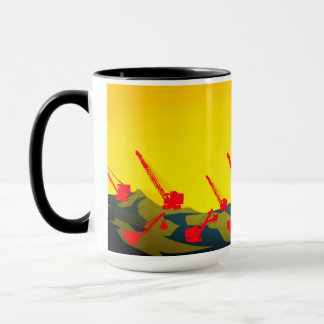 NORTHWEST ENGINEERING CRANE AND SHOVEL VINTAGE ART MUG