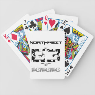 NORTHWEST FLORAL BICYCLE PLAYING CARDS
