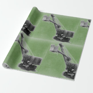 Northwest Heavy Equipment Shovel Vintage Wrapping Paper
