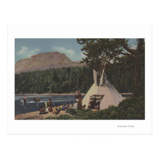 Northwest Indians - The Land of Sky Blue Post Cards