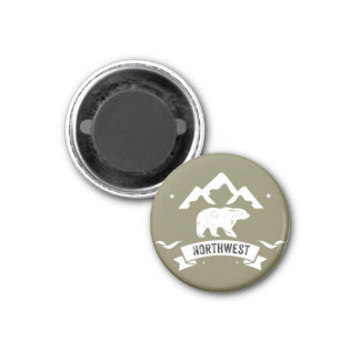 Northwest Life Bear 3 Cm Round Magnet