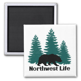 Northwest Life Bear & Trees Magnet