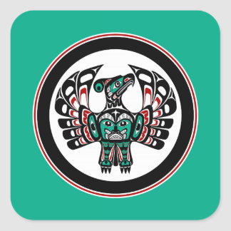 Northwest Pacific coast Haida art Thunderbird Square Sticker