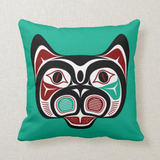 Northwest Pacific coast Haida Kitty Cushion