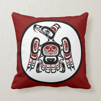 Northwest Pacific coast Kaigani Thunderbird Throw Pillow