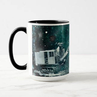 NORTHWEST SHOVEL CRANE  WINTER FANTASY PHOTO MUG