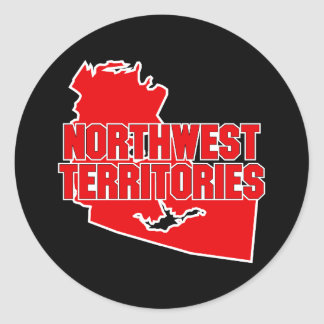 Northwest Territories Classic Round Sticker