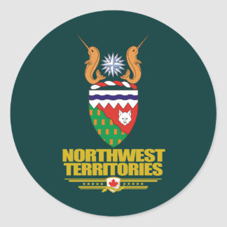 Northwest Territories COA Classic Round Sticker