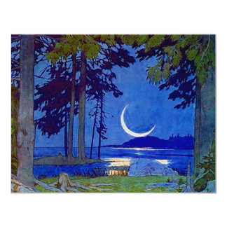 NORTHWOODS MOON SAVE THE DATE NOTE EZ2 CUSTOMIZE CARD