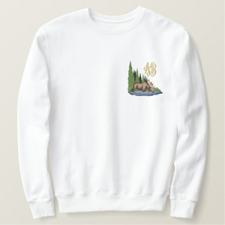 Northwoods & Moose Monogram Embroidery Embroidered Sweatshirt