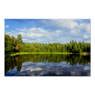 Northwoods Reflections Poster
