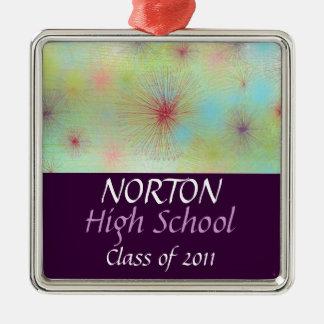 Norton Class of 2011 Keepsake Silver-Colored Square Decoration