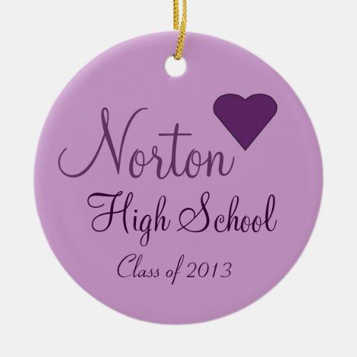 NORTON High School Class of 2013 Keepsake Christmas Ornament