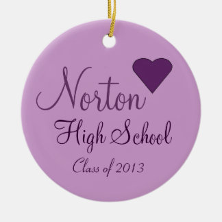 NORTON High School Class of 2013 Keepsake Round Ceramic Decoration