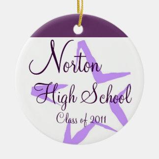 Norton High School Star Keepsake Round Ceramic Decoration
