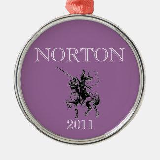 NORTON Lancers 2011 Keepsake Silver-Colored Round Decoration