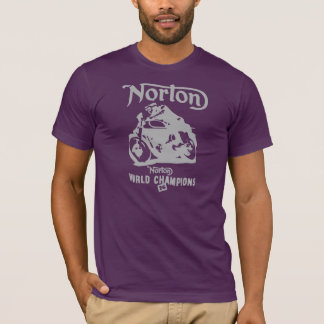 Norton Motor Bikes Hiking Duck T-Shirt