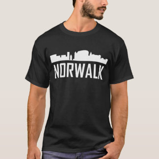 Norwalk Connecticut City Skyline T-Shirt