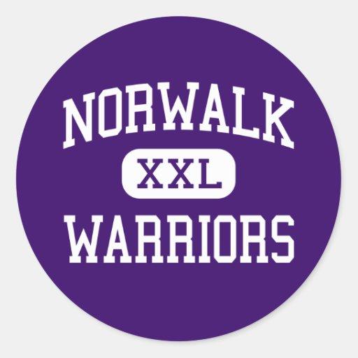 Norwalk - Warriors - High School - Norwalk Iowa Round Sticker
