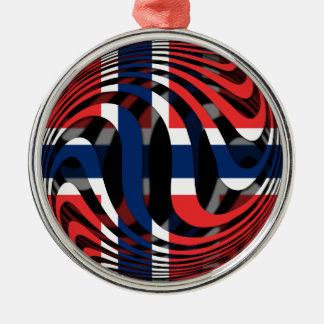 Norway #1 metal ornament