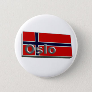 Norway 3D+H 6 Cm Round Badge