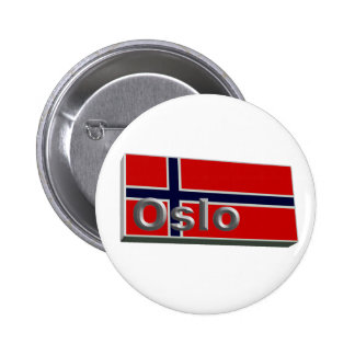 Norway 3D+H 6 Cm Round Badge