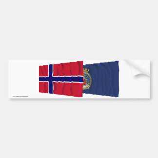Norway and Oslo waving flags Bumper Sticker